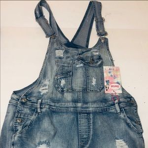Jean short overall NWT
